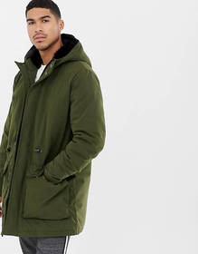 ASOS DESIGN heavyweight parka in green