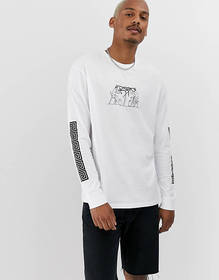 ASOS DESIGN relaxed long sleeve t-shirt with histo