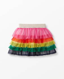Hanna Andersson Rainbow Ruffle Skirt In Soft Tulle