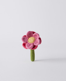 Hanna Andersson Flower Rattle in Pink/Fuchsia - ma