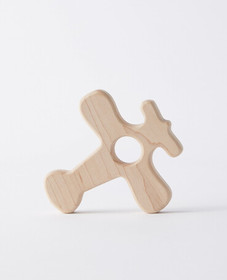 Hanna Andersson Wooden Plane Teether in Wood - mai