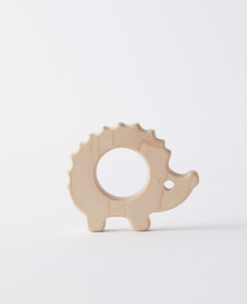 Hanna Andersson Wooden Hedgehog Teether in Wood -