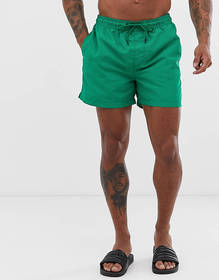 Jack & Jones Intelligence swim shorts with drawstr