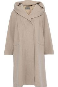 ALBERTA FERRETTI Wool and cashmere-blend hooded co