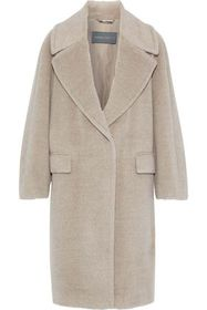 ALBERTA FERRETTI Alpaca and wool-blend coat