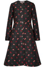LELA ROSE Wool-blend jacquard coat