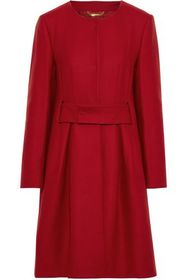 ALBERTA FERRETTI Belted wool-blend felt coat