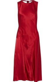 ALBERTA FERRETTI Silk-satin crepe dress