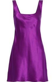 ALBERTA FERRETTI Silk-satin mini dress