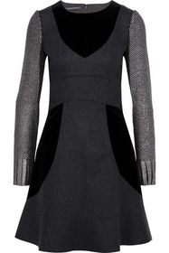 ALBERTA FERRETTI Metallic bouclé-knit, velvet and