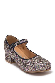 bebe Glitter Mary Jane Heel (Little Kid & Big Kid)