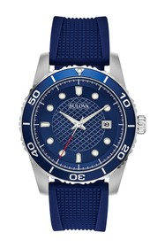 Bulova Men's Chronograph Quartz Analog Silicone St