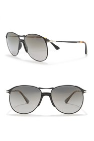 Persol 55mm Polarized Navigator Sunglasses