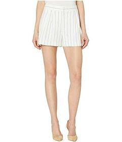 Vince Camuto Front Pleat Pinstripe Shorts - L