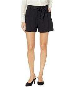Vince Camuto Pique High-Waist Front Pleat Belted S