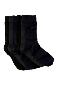 Tommy Bahama Logo Solid Crew Socks - Pack of 6