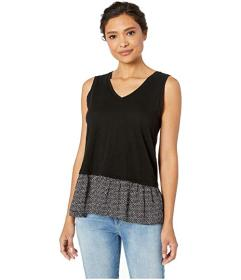 TWO by Vince Camuto Sleeveless Mix Media Diamond D