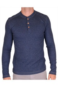 Vintage 1946 Wide Rib Heathered Henley