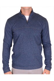 Vintage 1946 Heathered Rib Quarter Zip Thermal