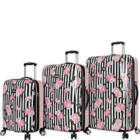 BETSEY JOHNSON Stripe Roses 3 Piece Expandable Har