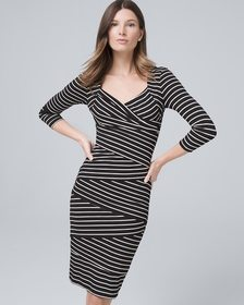 Instantly Slimming Striped Sheath Dress