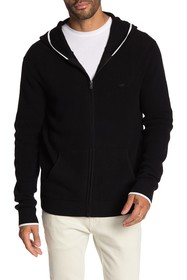 Michael Kors Tipped Thermal Front Zip Hoodie