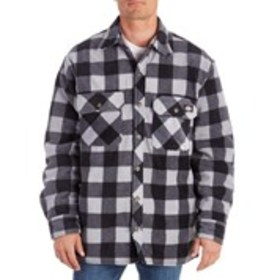 DICKIES Mens Plaid Fleece Jacket