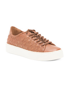 FRYE Woven Leather Fashion Sneakers