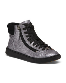 reveal designer Lace Up Glitter Sneakers