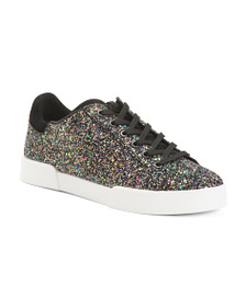 reveal designer Glitter Lace Up Sneakers