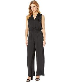 Vince Camuto Sleeveless Rumple Belted Jumpsuit