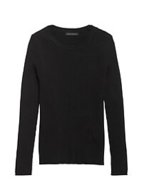 Fitted Ribbed Sweater Top