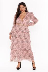 Nasty Gal Womens Nude Paisley It Forward Tiered Ma