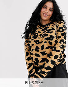 Brave Soul Plus animal print sweater