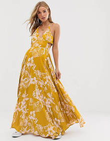Free People Lille printed maxi dress