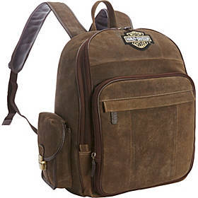 Harley Davidson by Athalon Leather Backpack (Large