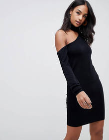 ASOS DESIGN cut out detail knitted mini dress