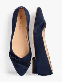Talbots Edison Pleated Flats - Suede