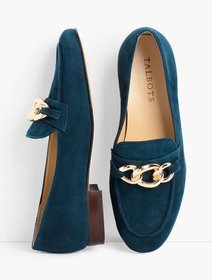 Talbots Cassidy Chainlink Loafers - Suede