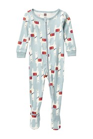 Tea Collection Patterned Footed Pajamas (Baby Boys