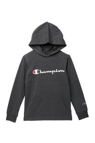 Champion Hooded Classic Script Long Sleeve T-shirt