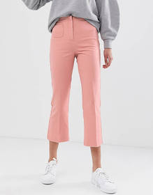ASOS DESIGN kick flare in pink with pocket detail