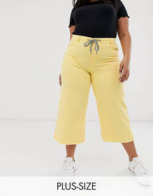 Urban Bliss Plus cropped wide leg jean with rope b