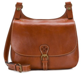 """As Is"" Patricia Nash Leather Saddle Bag- London -"
