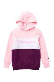 Champion Colorblock Hooded Pullover (Big Girls)
