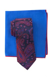 Ted Baker London Silk Large Paisley Tie & Pocket S