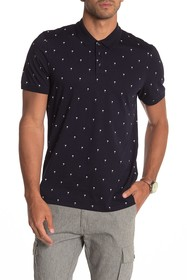 Ted Baker London Tuka Palm Print Slim Fit Polo