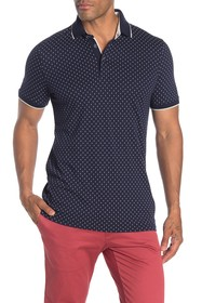 Ted Baker London Toff Geo Print Slim Fit Polo