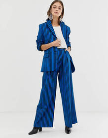 ASOS WHITE tonal stripe pants