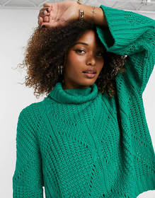 Liquorish high neck oversized sweater